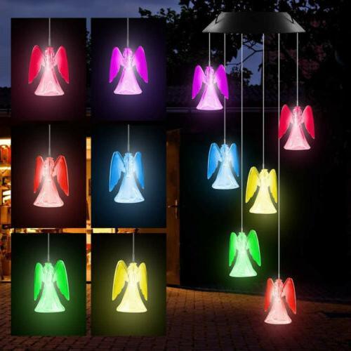 Solar Angel Chimes Home Garden Lamp