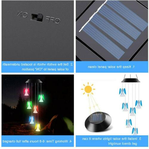 Solar Changing LED Angel Garden Lamp US