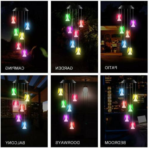 Solar Color Changing Angel Wind Garden Decor Lamp