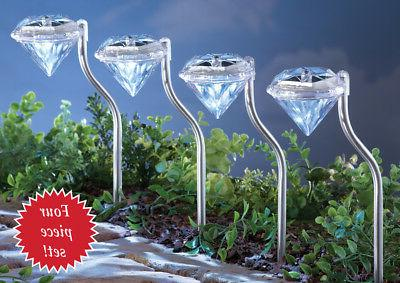 Solar Pathway Garden Decor Set 4, by Collections Etc