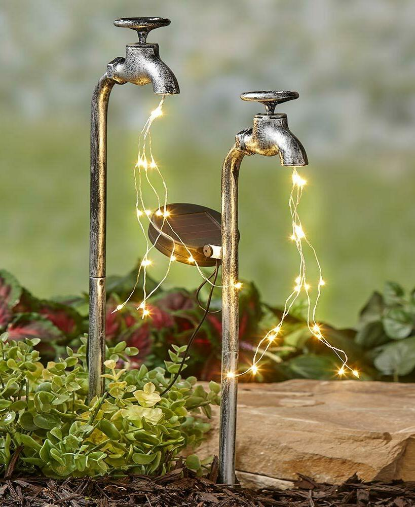 Solar Water Faucet Fairy Light Yard Lawn Outdoor Home Decor