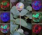 Solar Glass Ball Garden Stake Outdoor Landscape Lamp Color C