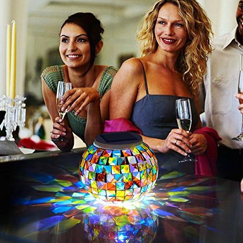 Color Changing Glass Ball Aukora Solar Waterproof Led Garden Wedding Christmas Decoration, Ideal Gifts