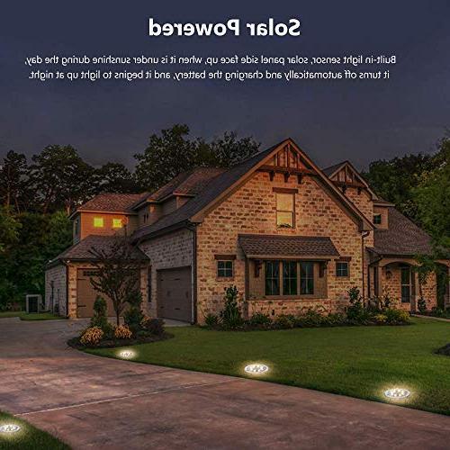 Ground LED Lights Solar Powered Garden Outdoor Light