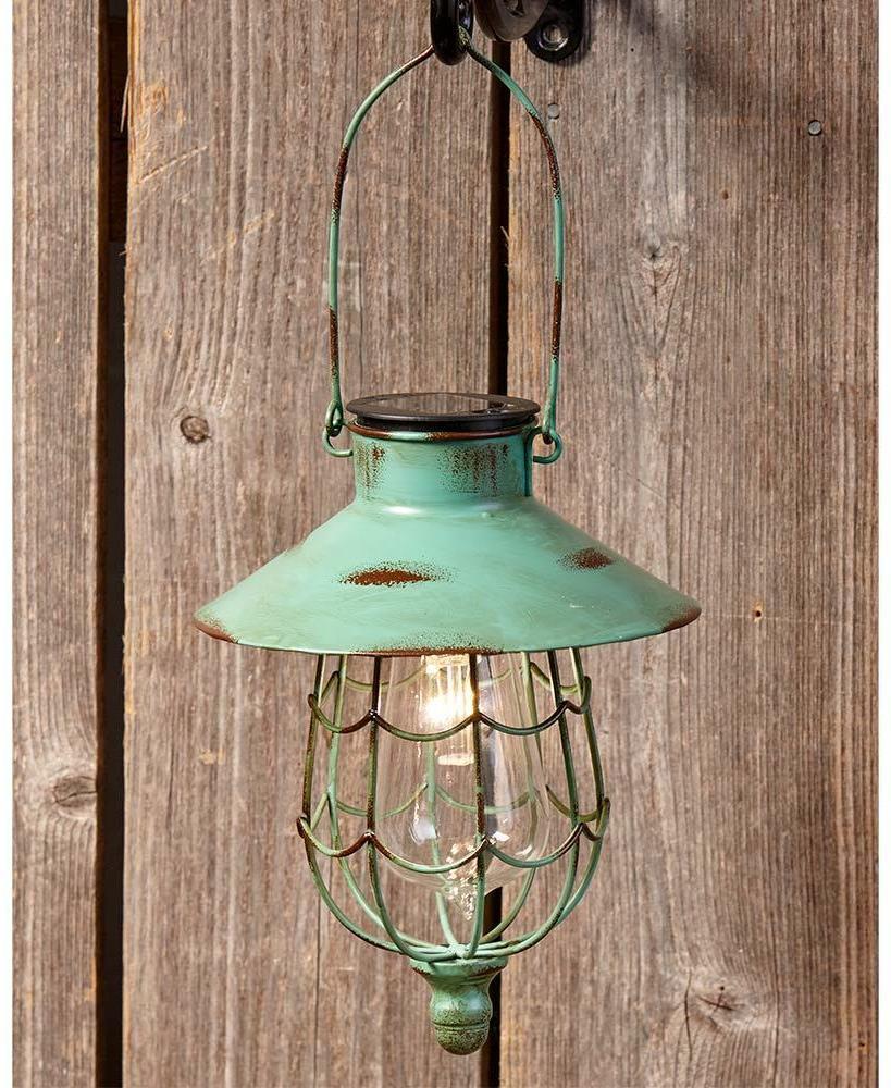 RUSTIC SOLAR HANGING LANTERN GARDEN OUTDOOR LAWN DECOR LED LAMP LIGHTS