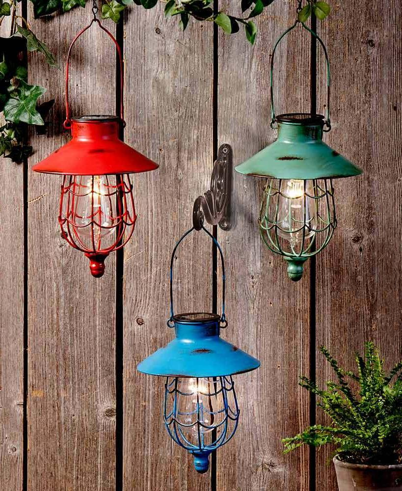 SOLAR HANGING LANTERN GARDEN OUTDOOR LED LAMP LIGHT YARD OUT