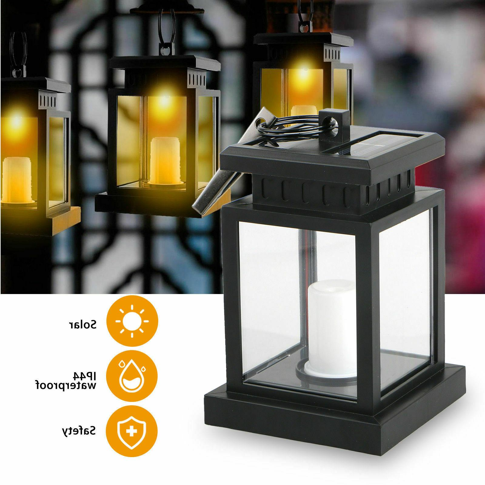 Solar LED Candle Flickering Home Decorative Lamp