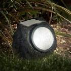 solar lights rock landscaping yard