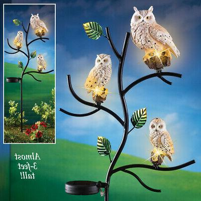 Solar Owl Decor Yard by Collections Etc
