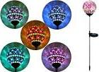 Solar Pink Glass Ball Garden Stake Outdoor Yard Lawn Color C