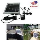 3W Solar Power Bird Bath Pump Outdoor Waterfall Fountain Kit