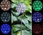 Solar Power Crystal Ball Garden Stake Lamp Landscape Color C