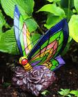 Solar Power Garden Decor Art Butterfly Statue Outdoor Patio