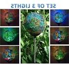 3x Solar Power Mosaic Glass Ball Garden Stake Lamp Color Cha