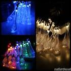 Solar Powered 15ft 4.8m 20 LED 3D Clear Waterdrop String Lig