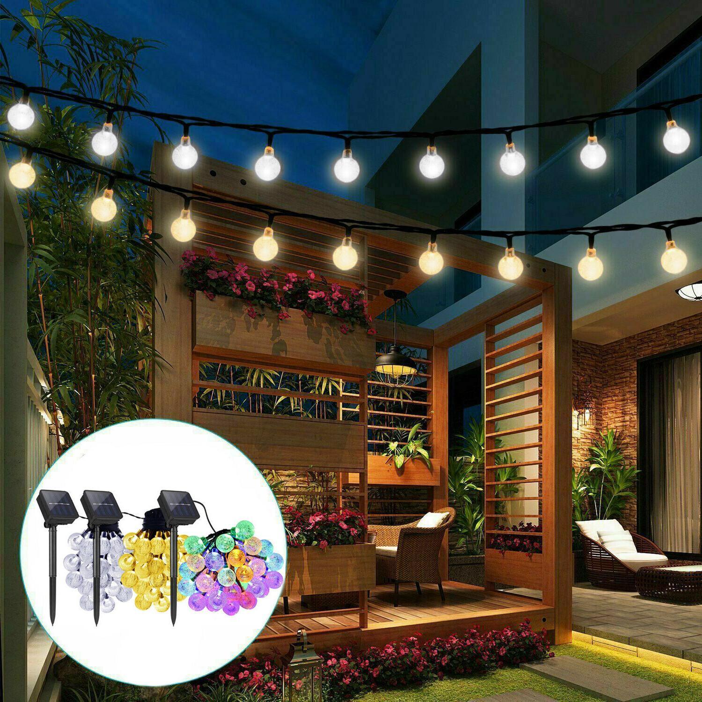solar powered 30 led string light garden