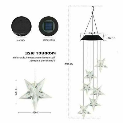 Solar Powered Chimes Hanging Color LED Light Yard