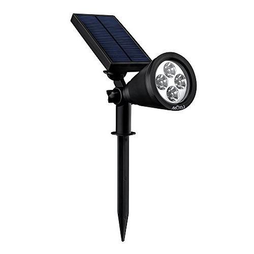 solar powered spotlight rechargeable landscape