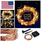 Solar powered Warm White 10M/33FT 100LED Copper Wire Outdoor