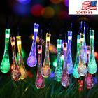 Solar Outdoor String 20ft 30 LED Water Drop Waterproof Light
