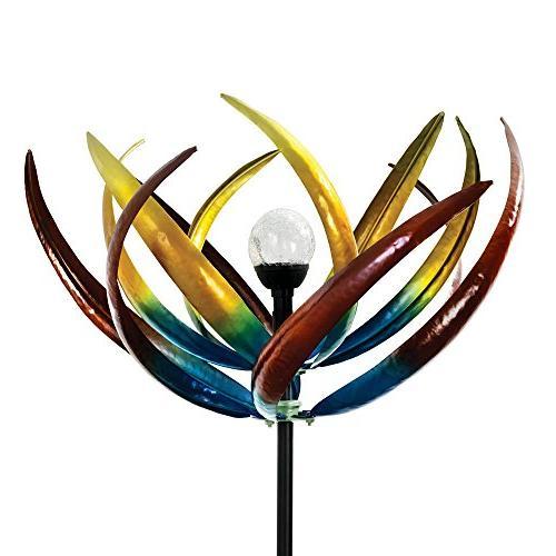 solar tulip wind spinner