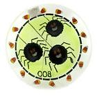 Tabletop SPIDER FUSED PLATE Glass 13-inch Round Halloween Pl