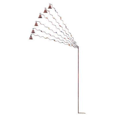 spiral bell chimes garden stake
