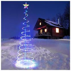 5' Spiral LED Lighted Christmas Tree Light Home Yard Holiday