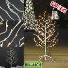 Christmas Star Tree Outdoor Decor White Lighted Xmas Yard 3f