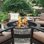 Outdoor Fireplace Stone Fire Pit Patio Wood Burning Bowl Bac