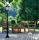 Outdoor Solar Powered Lamp Post Street LED Light Garden Pati