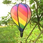 Brand New Striped Rainbow Windsock Hot Air Balloon Wind Spin