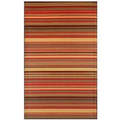 Stripes Warm Brown Rug - Rug Size: 4' x 6'