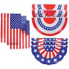 8 PIECE SUMMER PATRIOTIC MEMORIAL DAY 4TH OF JULY FLAG BANNE