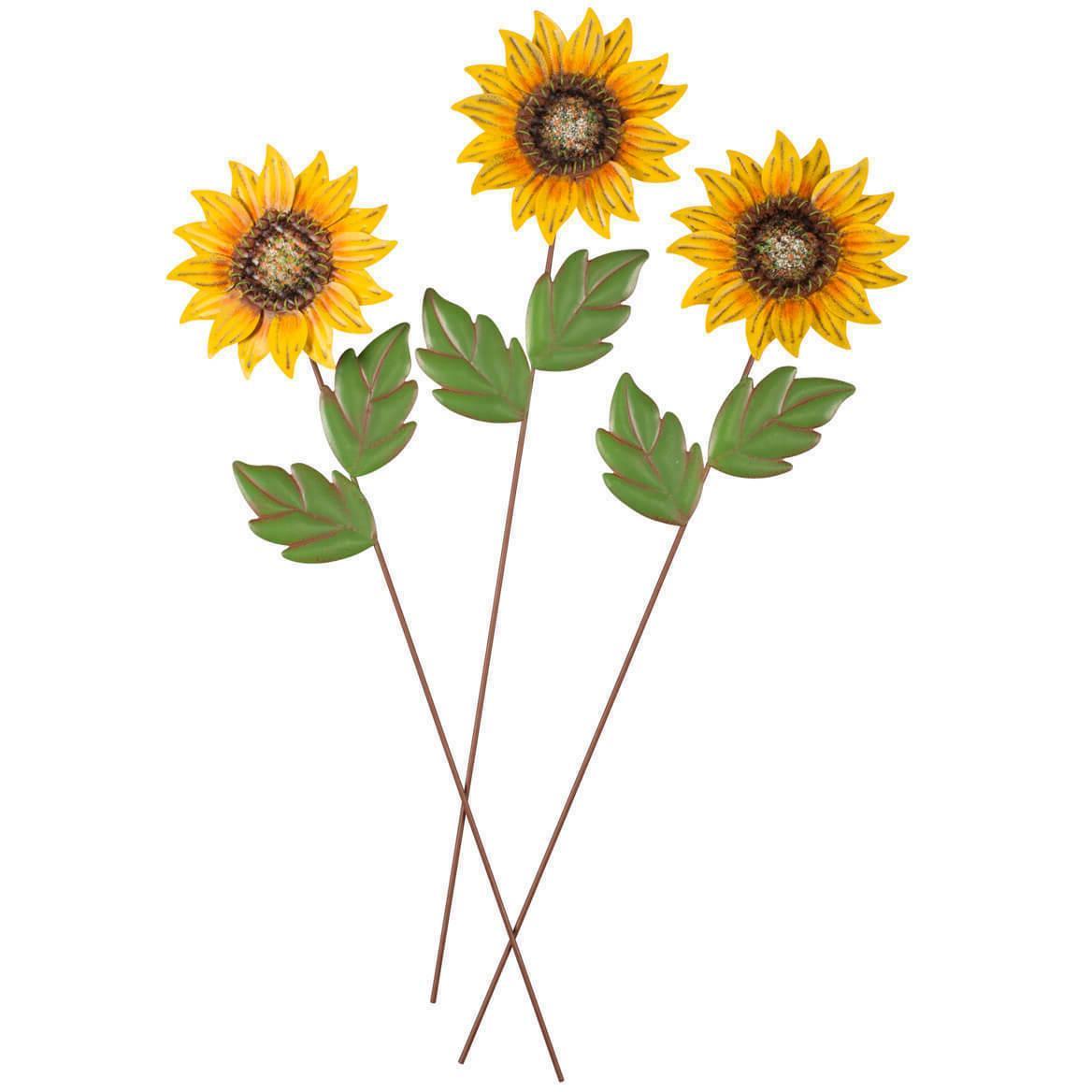 Sunflower Set of 3 Lawn Yard