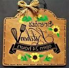 SUNFLOWER Personalize Name KITCHEN SIGN Wall Art Hanger Hang