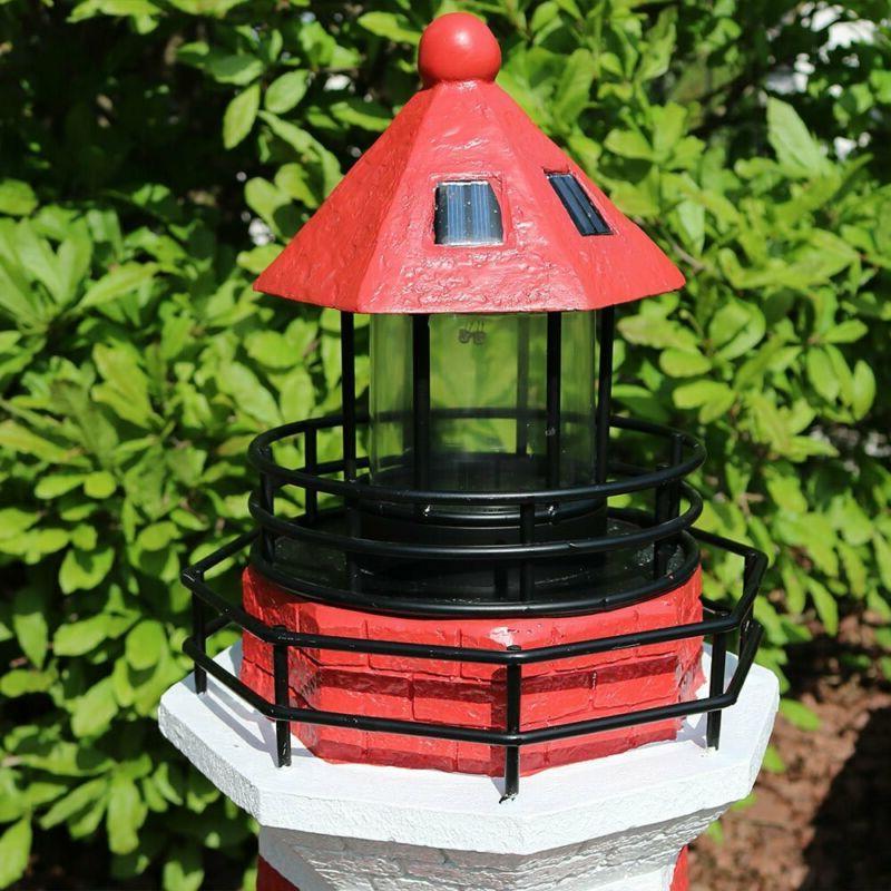 Sunnydaze Solar Led Lighthouse, Outdoor 36 Tall,