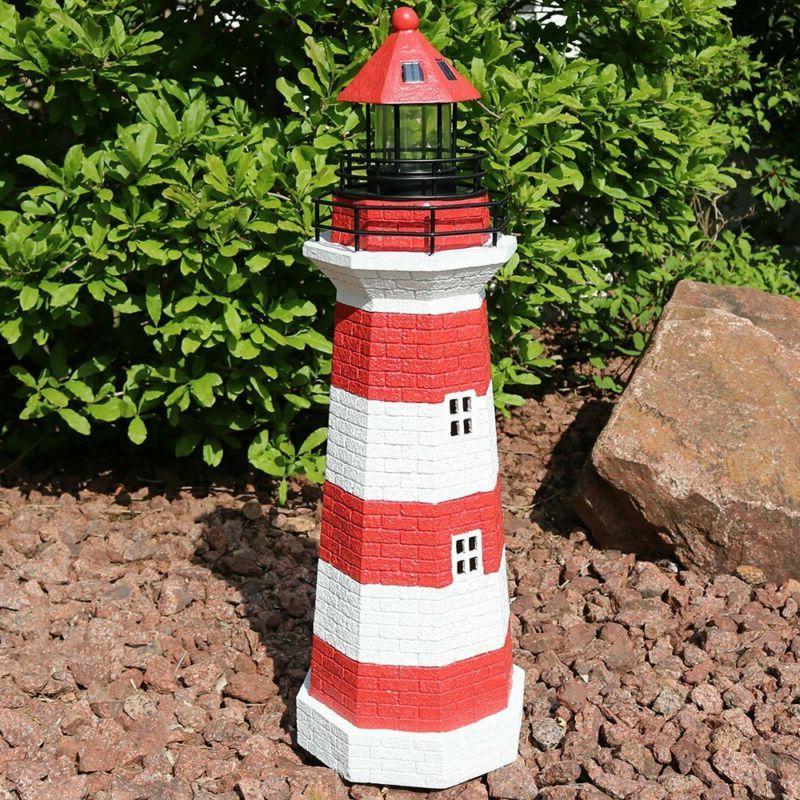 Sunnydaze Led Lighthouse, Outdoor 36 Inch Tall,