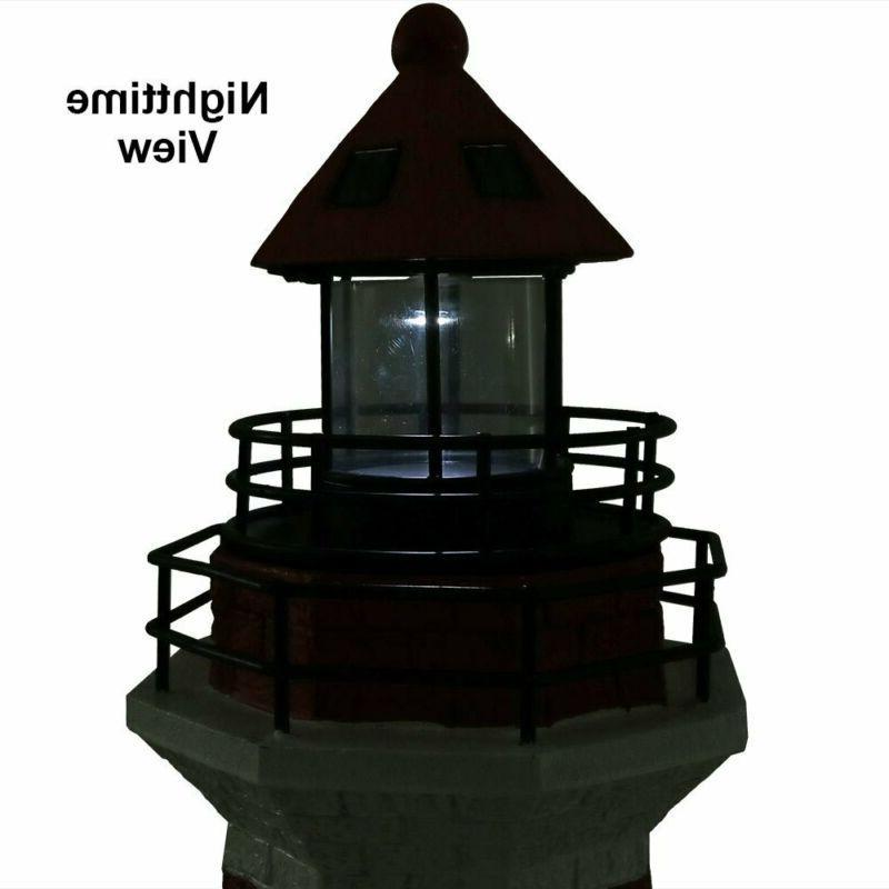 Sunnydaze Solar Lighthouse, Outdoor Yard 36 Inch