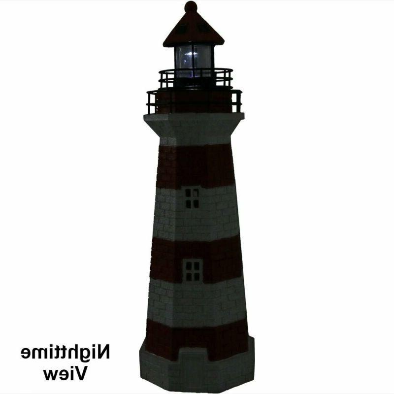 Sunnydaze Led Lighthouse, 36 Tall,