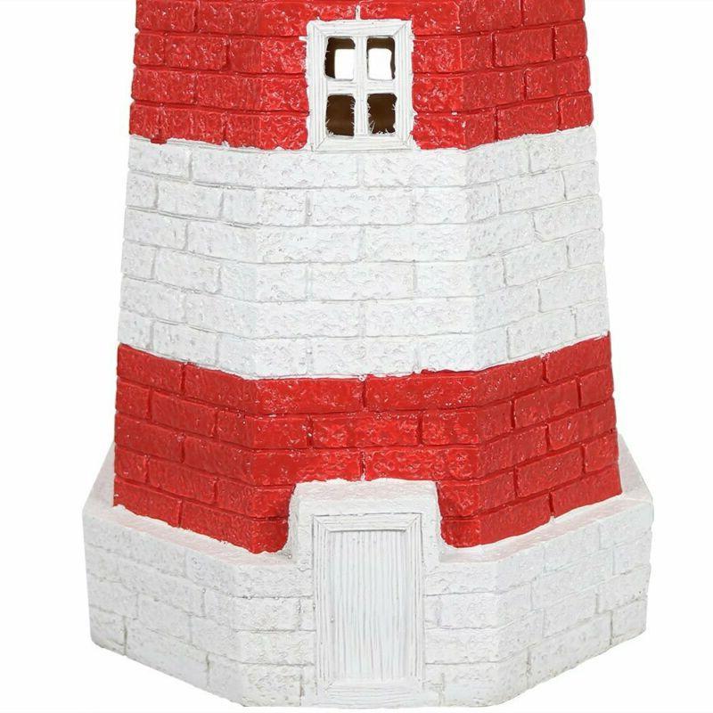 Sunnydaze Solar Lighthouse, Yard 36 Tall,