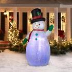 7.5 ft tall Gemmy SWIRLING Christmas Inflatable PROJECTION K
