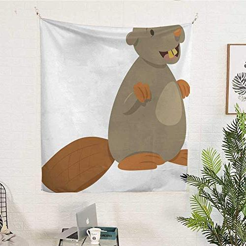25 Tapestries Wall hangings Cartoon Beaver Animal Tapestries 54W x 72L