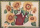 Tapestry Rug Sunflowers Watering Can Accent Kitchen Mat 19 x