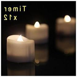 eLander LED Tea Lights Flameless Candle with Timer, 6 Hours