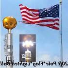 20ft Telescopic Flagpole, 2 Flags, Installed Ball Light, all