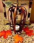 Thanksgiving Pumpkin Shaped Tea Lite Holder Harvest Turkey T
