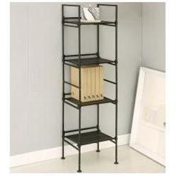 Neu Home 97214 4 Tier Square Shelf Black