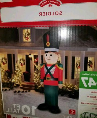 toy soldier 10ft airblown inflatable christmas yard