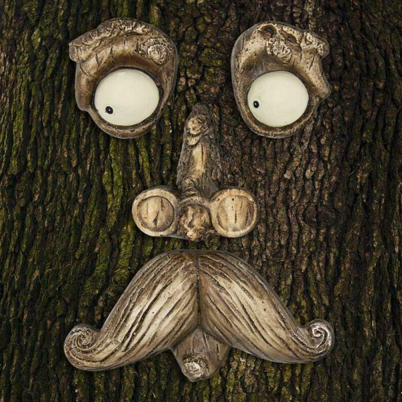 Tree Faces Old Man Fun Hugger Yard Garden Decor Indoor Outdo